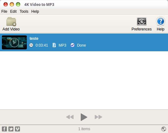 Como instalar o conversor 4K Video to MP3 no Linux