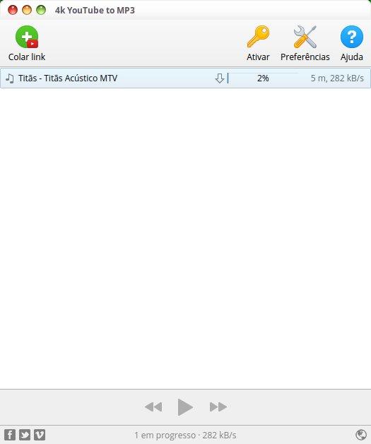conversor 4K YouTube to MP3 no Linux - veja como instalar