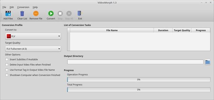 Como instalar o conversor de vídeo VideoMorph no Ubuntu, Debian e derivados