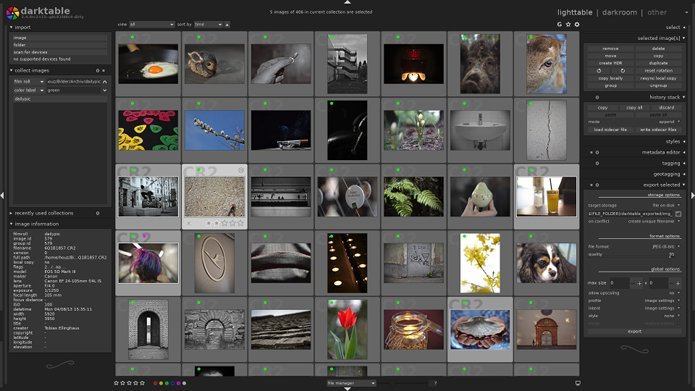 Lançado Darktable 2.4.3. com suporte para mais câmeras