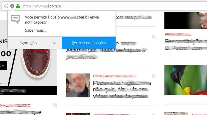 Como desativar notificações de sites no Firefox