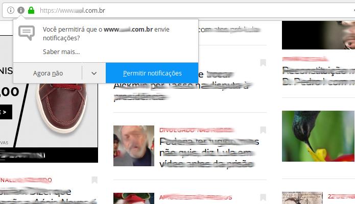 Como evitar que sites peçam para mostrar notificações no Firefox