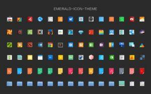 Instalando o conjunto de ícones Emerald no Ubuntu