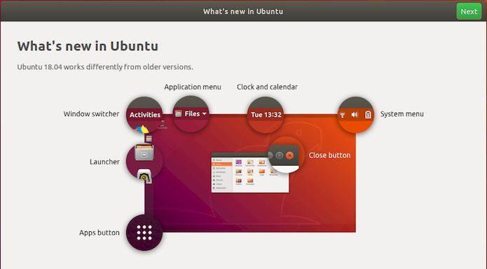 Conheça a nova tela de boas-vindas do Ubuntu 18.04 LTS