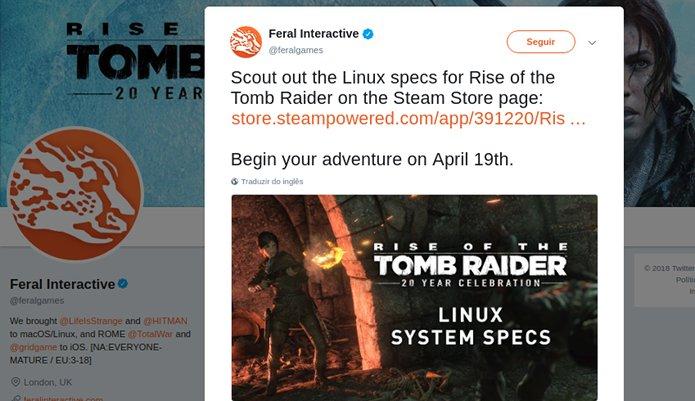 Requisitos para jogar Rise of the Tomb Raider: 20 Year Celebration