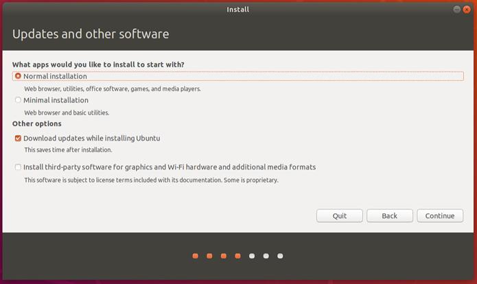 Ubuntu 18.04 LTS permitirá escolher entre instalação normal e mínima