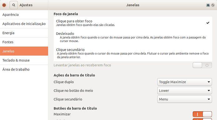 Como alterar a posição dos botões da janela no Ubuntu
