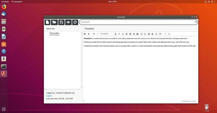 Como instalar o aplicativo de notas ThetaPad no Linux