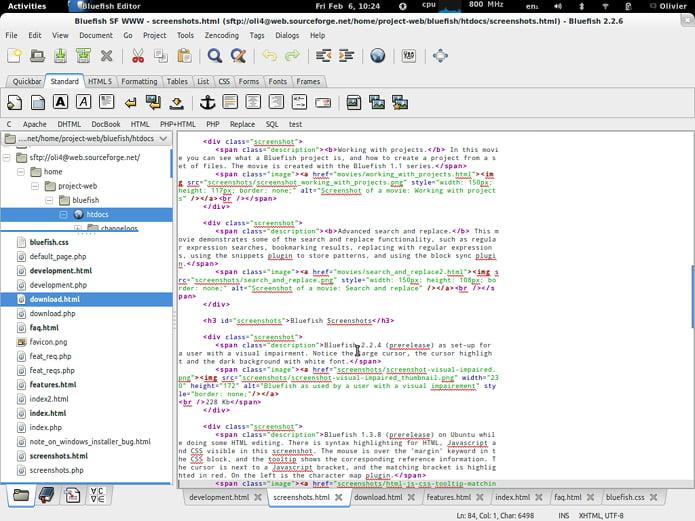 Como instalar o editor de código Bluefish no Linux via Flatpak