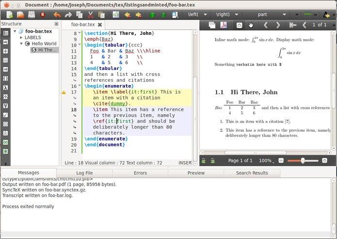 Como instalar o editor LaTeX TeXstudio no Linux via Flatpak