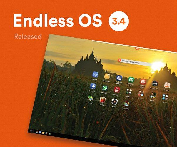 Endless OS 3.4 lançado – Confira as novidades e baixe