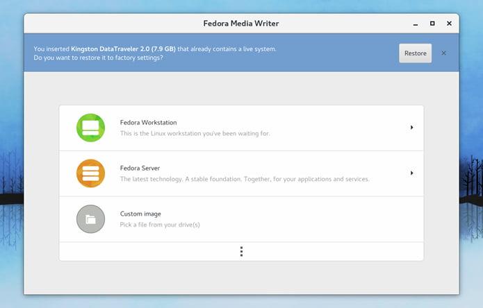 Como instalar o Fedora Media Writer no Linux via Flatpak