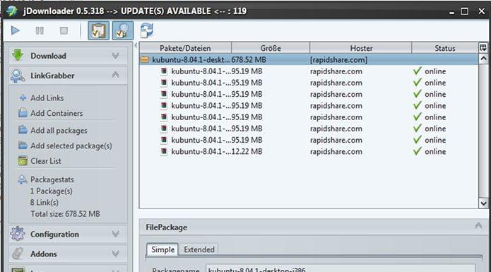 JDownloader no Linux - veja como instalar via Flatpak