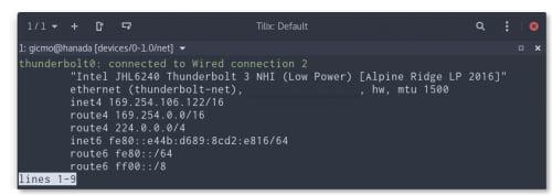 Rede Thunderbolt no Linux? NetworkManager já reconhece e configura