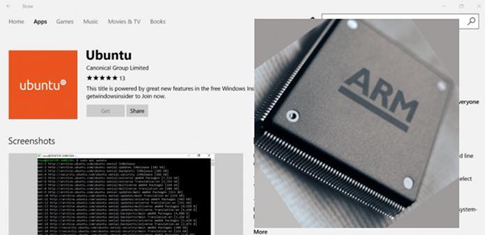 Microsoft anunciou o Ubuntu para Windows 10 em ARM