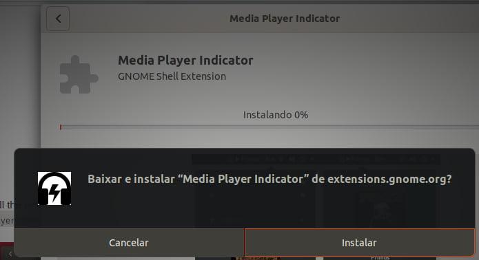 Como ativar os controles de reprodução no menu do Ubuntu 18.04