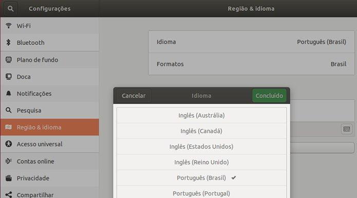 Como mudar o idioma padrão no Ubuntu 18.04 LTS