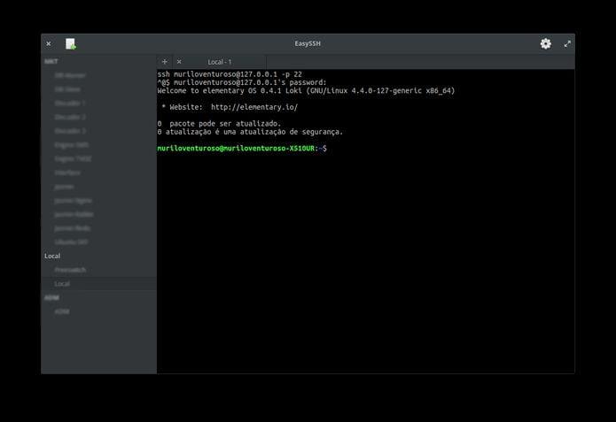 Como instalar o gerenciador de conexões EasySSH no Linux via Flatpak
