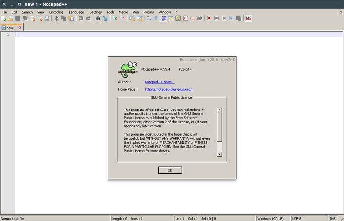 editor de codigo notepad no linux 1 - Como instalar a linguagem de programação Rust no Linux