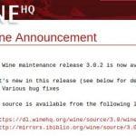Lançado Wine 3.0.2 estável com diversas correção de bugs