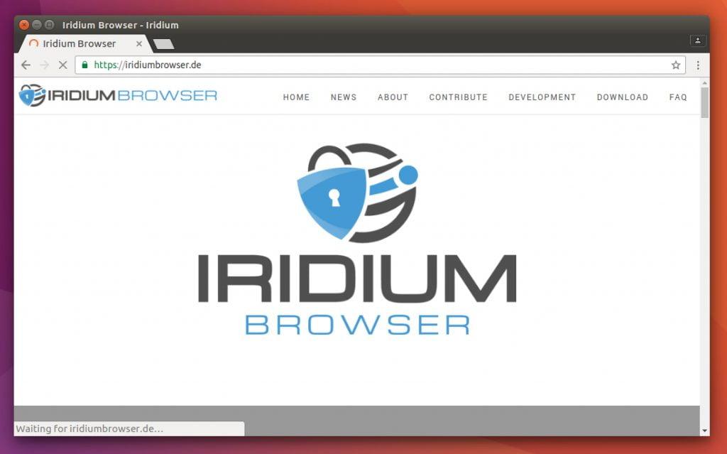Como instalar o navegador Iridium no Linux Ubuntu, Debian, Fedora, openSUSE