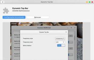 Como alterar o nível de transparência do painel superior no Ubuntu 18.04