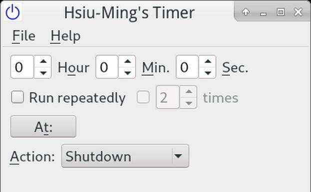 Como instalar o app de desligamento Hmtimer no Linux via Flatpak