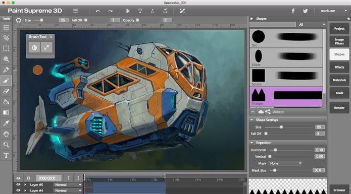 Como instalar o app de pintura digital PaintSupreme 3D no Linux via Snap