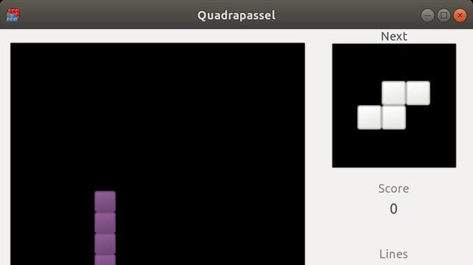 Como instalar o jogo Quadrapassel no Linux via Snap