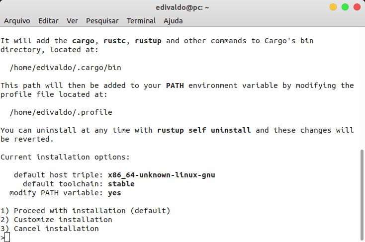 Como instalar a linguagem de programação Rust no Linux