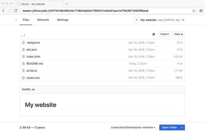 Como instalar o navegador Beaker no Linux via Flatpak