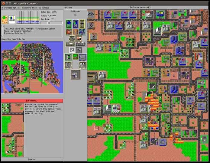 Como instalar jogo de simulação de cidade Micropolis no Linux via Snap