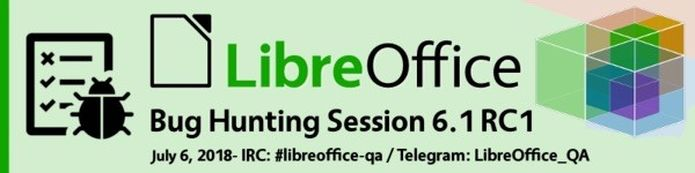 Lançado RC1 do LibreOffice 6.1 para a sessão final de caça aos bugs