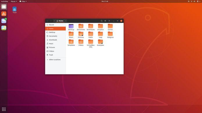 tela de login do ubuntu 18 10 com o tema yaru 1 - Canonical quer levar aplicações Electron para milhões de usuários de Linux