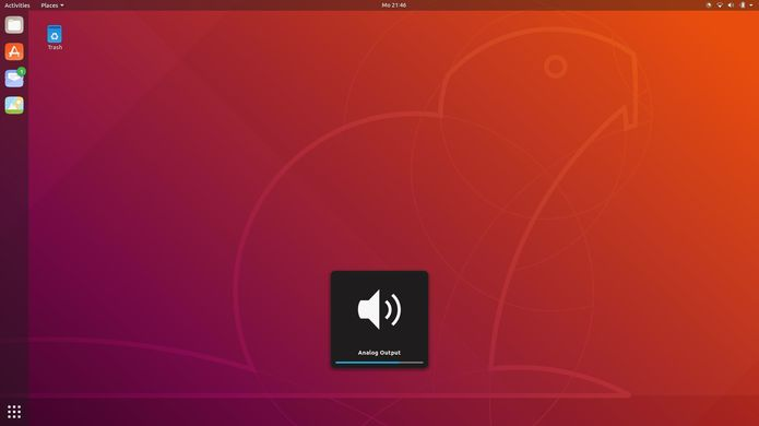 tela de login do ubuntu 18 10 com o tema yaru 3 - Canonical quer levar aplicações Electron para milhões de usuários de Linux