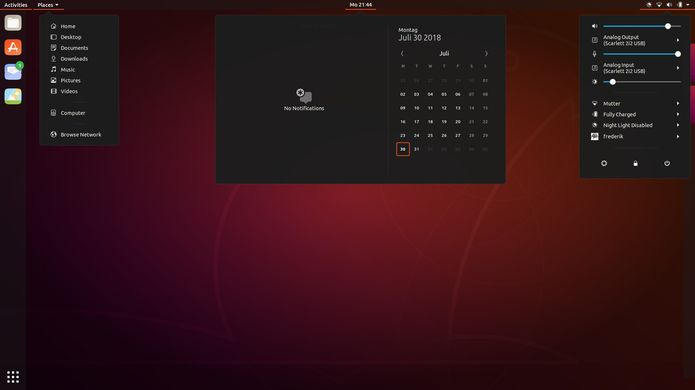 tela de login do ubuntu 18 10 com o tema yaru 4 - Canonical quer levar aplicações Electron para milhões de usuários de Linux