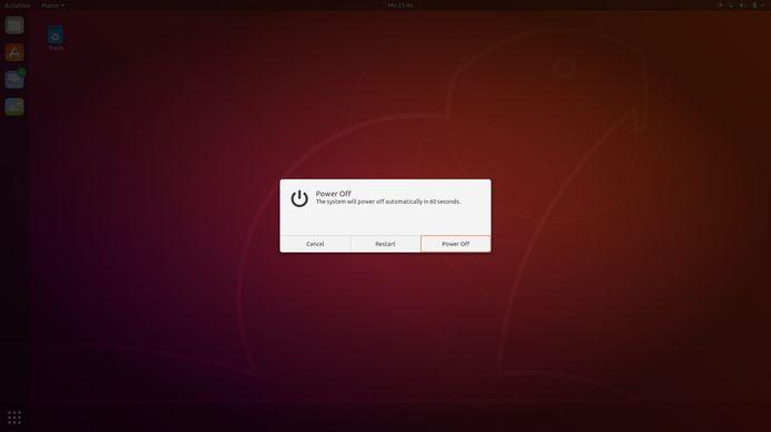 tela de login do ubuntu 18 10 com o tema yaru 5 - Canonical quer levar aplicações Electron para milhões de usuários de Linux