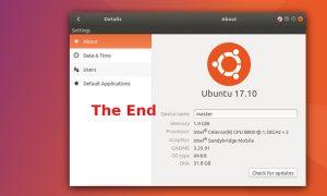 Ubuntu 17.10 chegou ao fim da vida útil, atualize para o Ubuntu 18.04 LTS