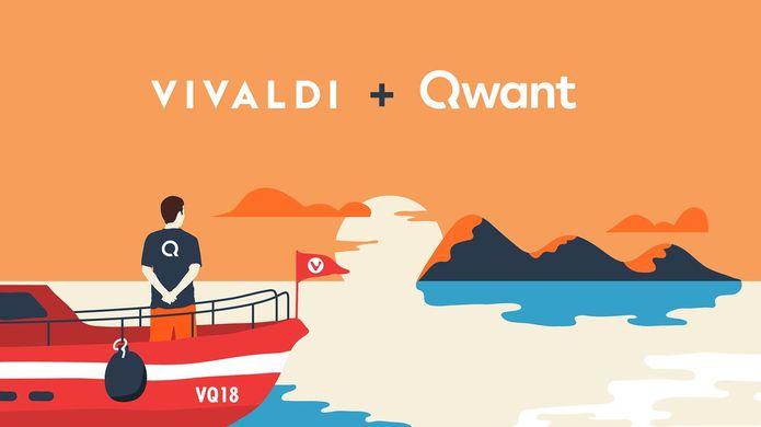 Vivaldi traz o Qwant como um mecanismo de pesquisa pré-instalado
