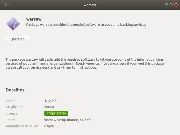 Como instalar o Warsaw no Linux