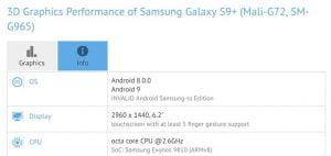Samsung começou a testar o Android 9 Pie para o Galaxy S9