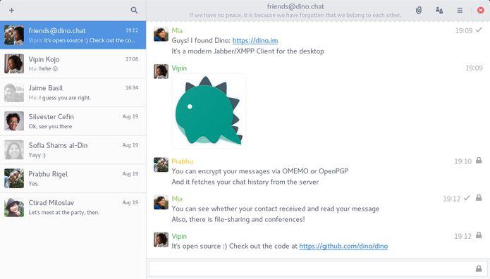 Como instalar o moderno cliente Jabber/XMPP Dino no Linux via Snap