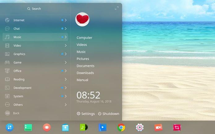 Deepin 15.7 lançado com otimizações e melhorias de desempenho