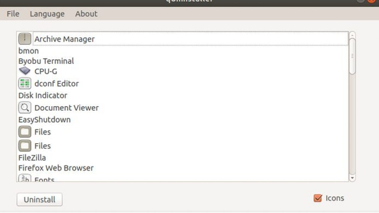 desinstalar qualquer programa no Ubuntu com o qUninstaller