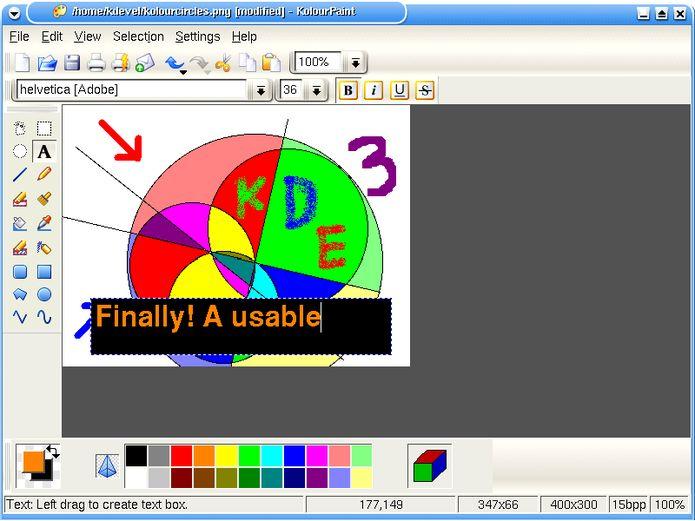 Como instalar o editor de imagens KolourPaint no Linux via Flatpak