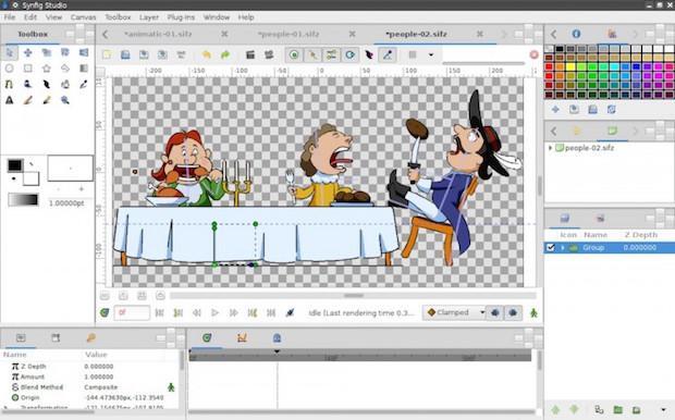 Como instalar o gerador de animações Synfig Studio no Linux via Flatpak