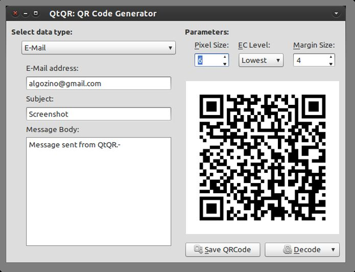 Como gerar e decodificar QR code no Ubuntu com a ajuda do QtQR