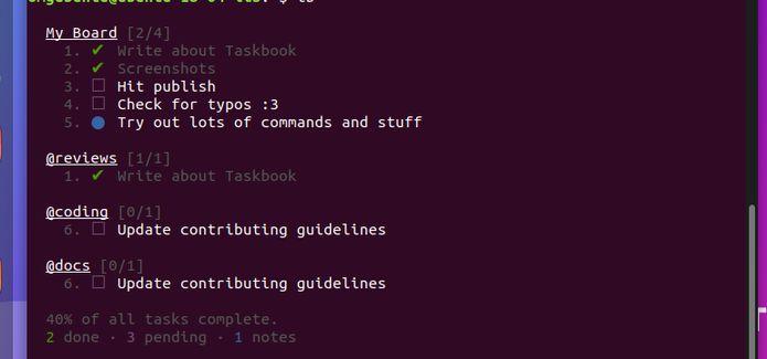 Como instalar o gerenciador de tarefas Taskbook no Linux