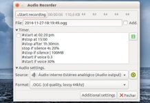 Como instalar o gravador de áudio Audio Recorder no Linux via Snap