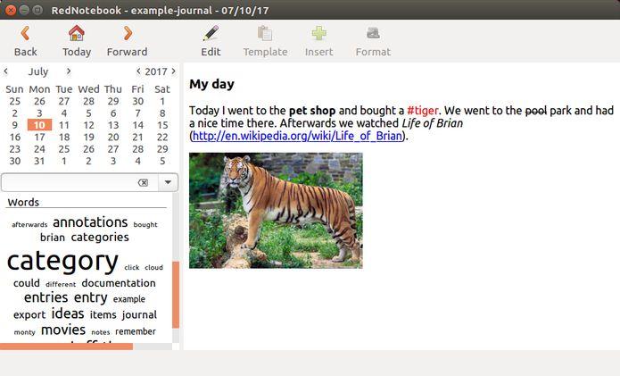 RedNotebook 2.6 lançado com algumas melhorias e outras mudanças